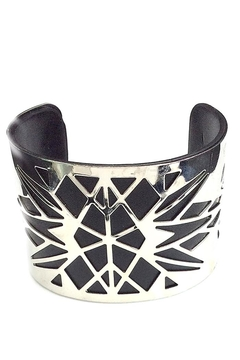 NuraBella Black Silver Wide Cuff - Product List Image