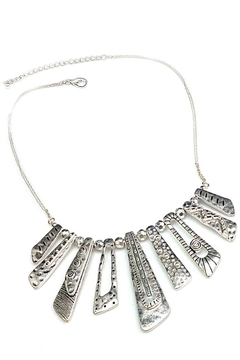 NuraBella Matt Silver Necklace - Alternate List Image