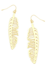 NuraBella Gold Leave Light Earrings - Product Mini Image