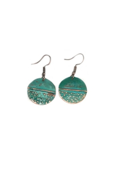 NuraBella Red Green Earrings - Alternate List Image