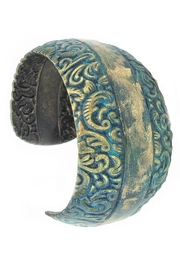NuraBella Jewelry Blue Patina Cuff - Product Mini Image