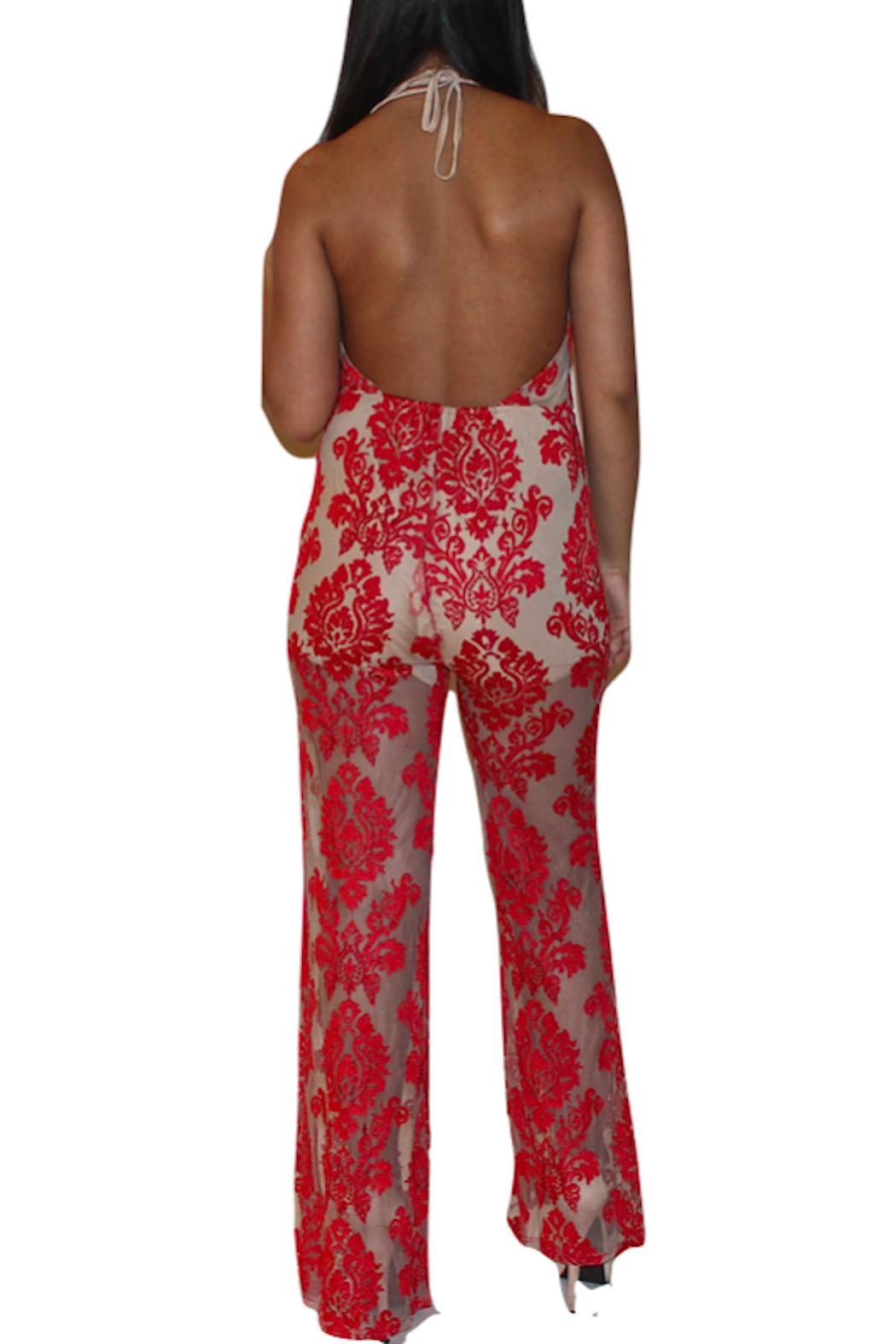 Nurielle Red Lace Jumpsuit from Miami — Shoptiques