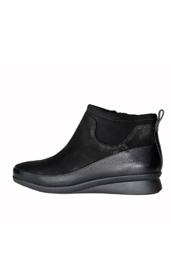 Shoptiques Product: Vanica Leather Stretch Wedge Bootie
