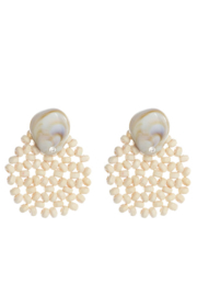 Liza's Jewelry  Nut Bead and Shell Earring - Product Mini Image