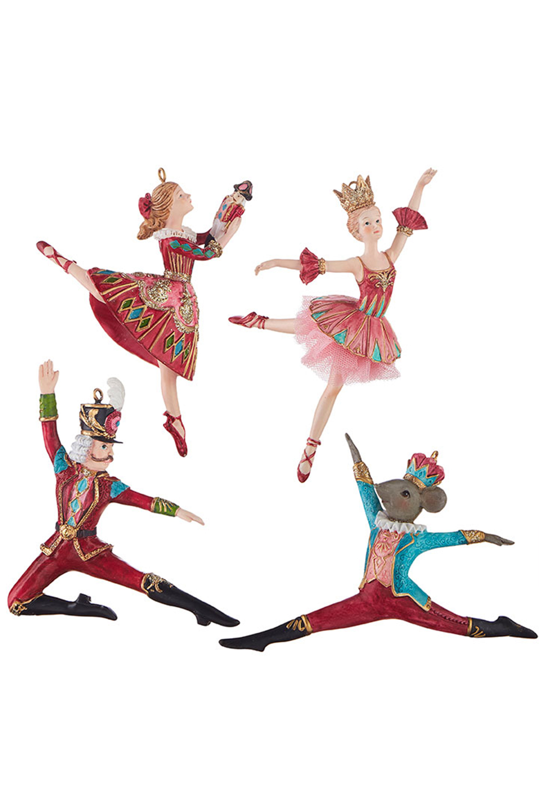 RAZ Imports Nutcracker Traditions Ballet Ornament - Front Cropped Image