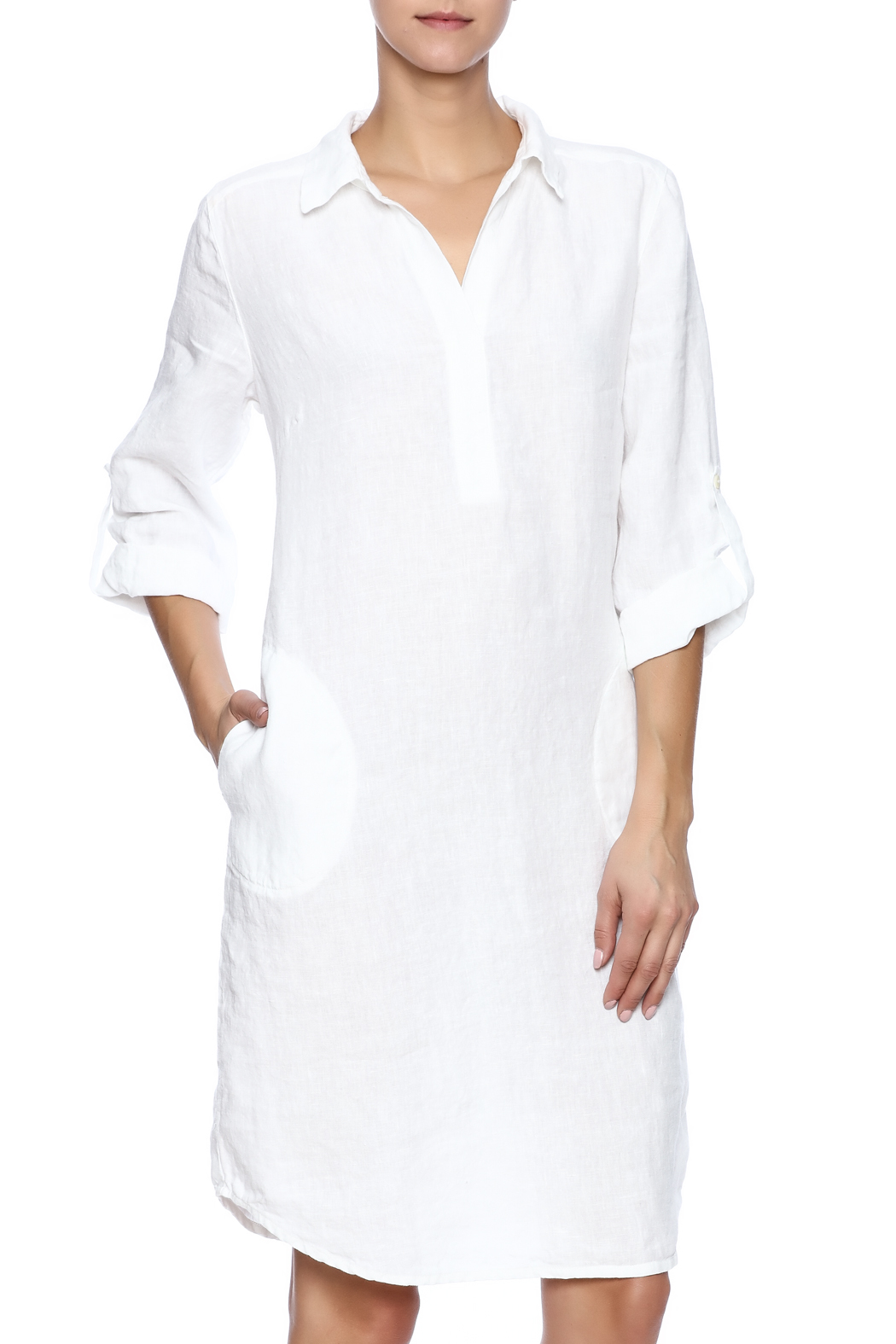 Nuthatch White Linen Shirt Dress From Williamsburg By East Of The