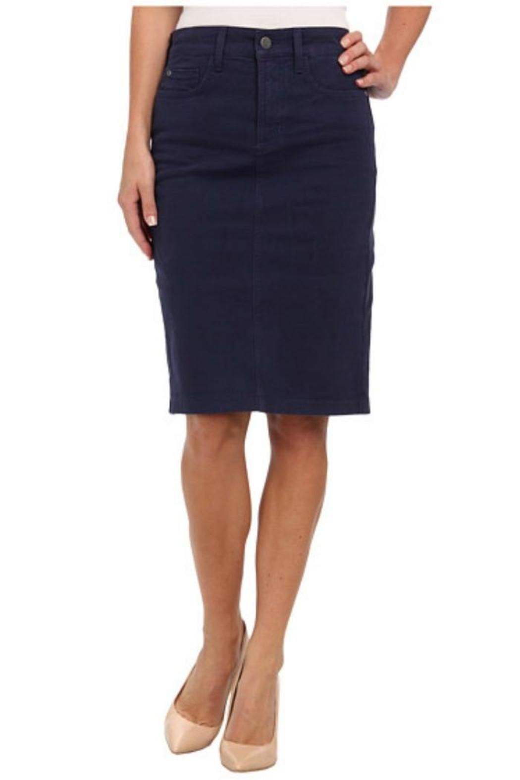 NYDJ Navy Twill Skirt - Main Image