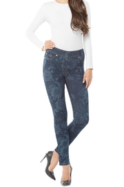 Nygard Floral Print Jeans - Back cropped