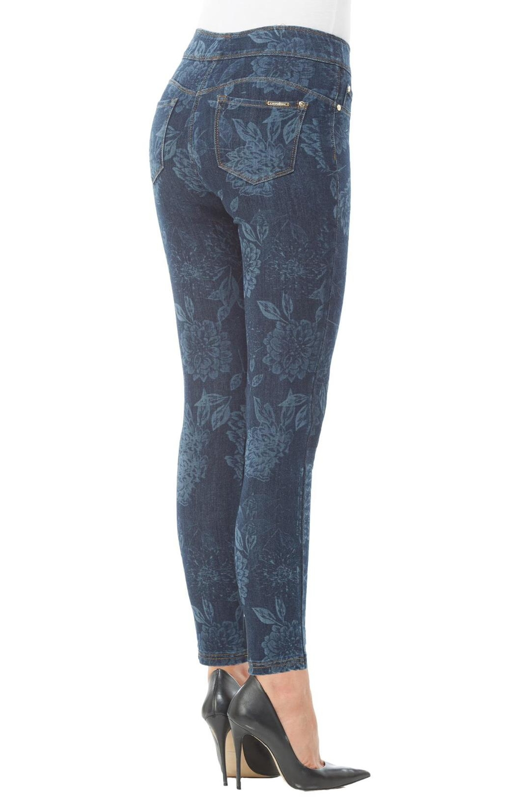 Nygard Floral Print Jeans - Side Cropped Image