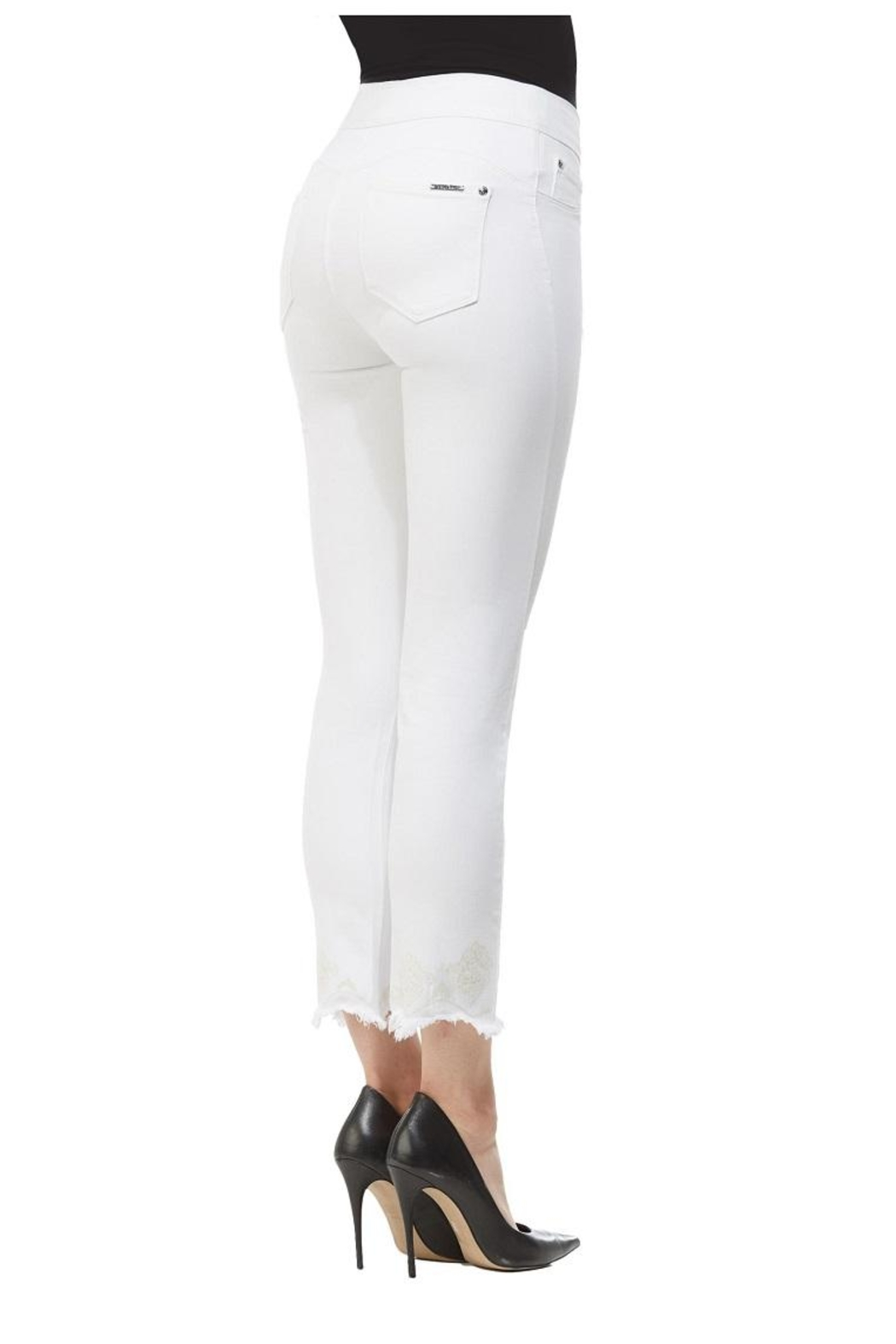 Nygard Frayed Crop Jeans - Front Full Image