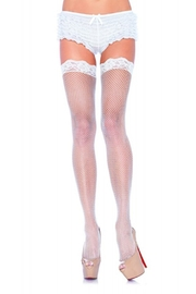 best underwear Nylon Fishnet with Lace Top - Product Mini Image