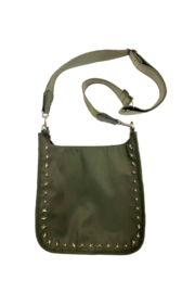 Ah!dorned NYLON STAR GROMMET MESSENGER BAG W/ADJUSTABLE STRIPE WEB STRAP - Product Mini Image
