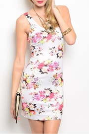 Nylon Apparel Ivory Floral Dress - Front cropped