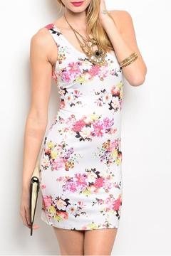 Nylon Apparel Ivory Floral Dress - Product List Image