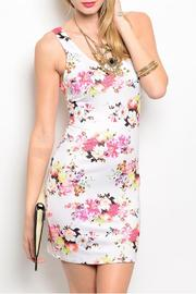 Nylon Apparel Ivory Floral Dress - Product Mini Image