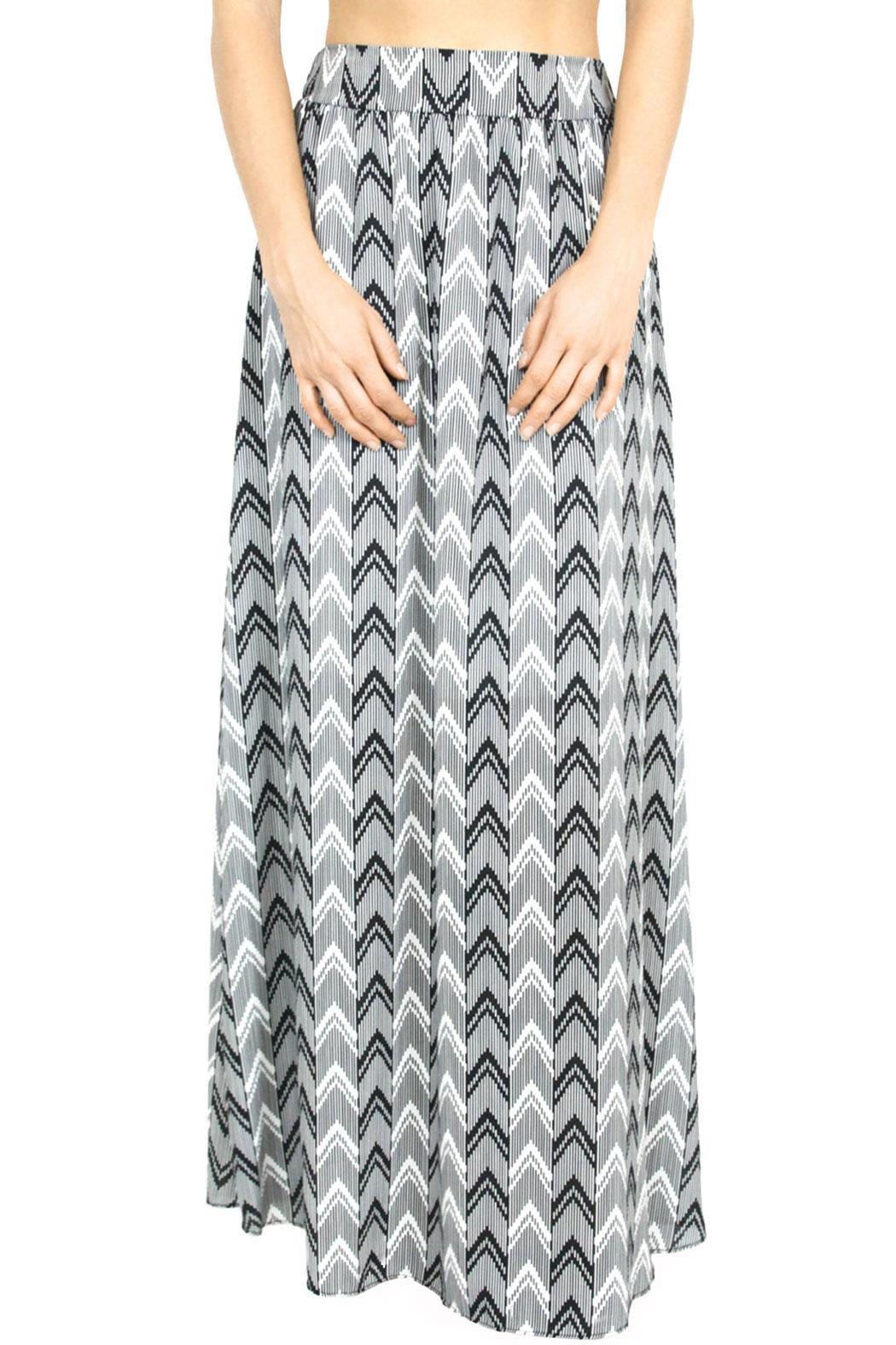 nymphe chevron maxi skirt from los angeles by b poy amp jo