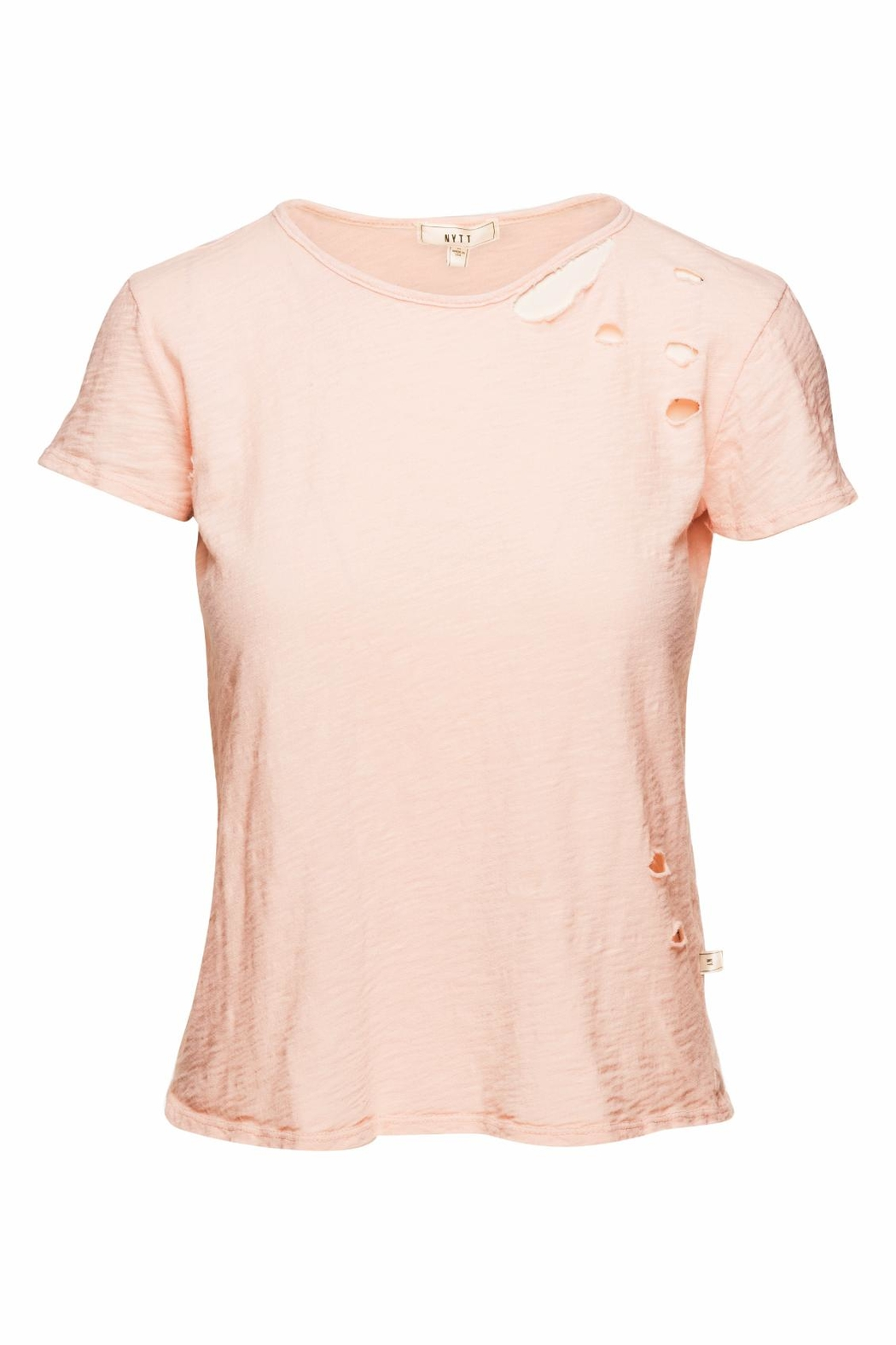 NYTT Blush Distressed Tee - Main Image
