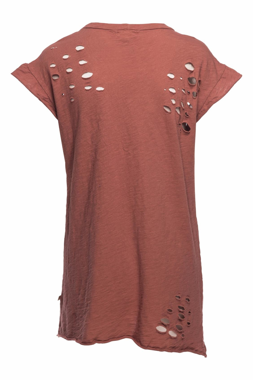 NYTT Distressed Tee Dress - Front Full Image
