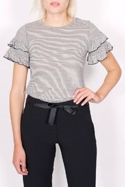 NYTT Ruffle Striped Tee - Front cropped
