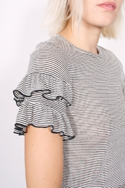 NYTT Ruffle Striped Tee - Back cropped