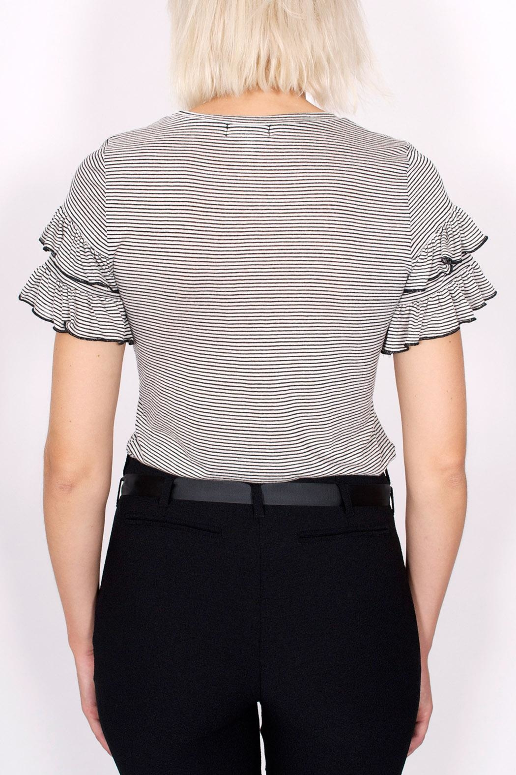 NYTT Ruffle Striped Tee - Side Cropped Image