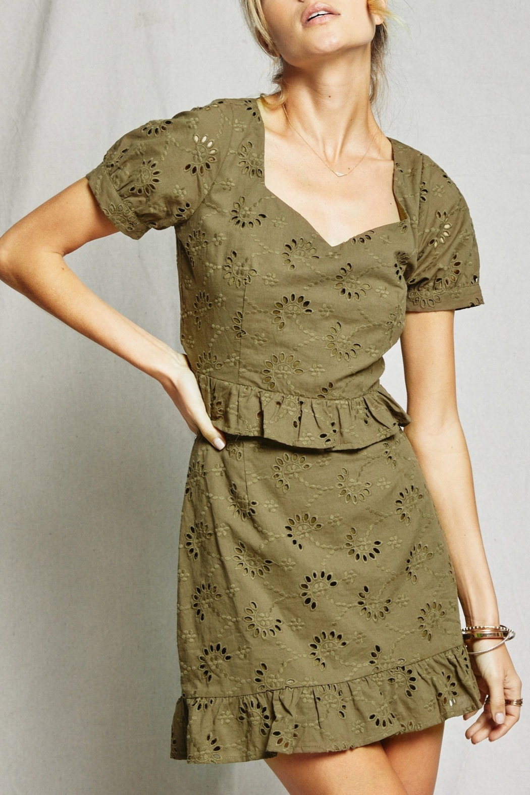 SAGE THE LABEL O'Keefe Eyelet Top - Main Image