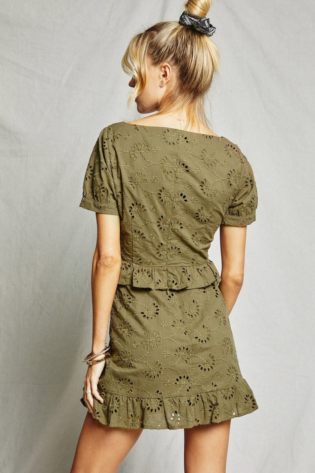 SAGE THE LABEL O'Keefe Eyelet Top - Side Cropped Image