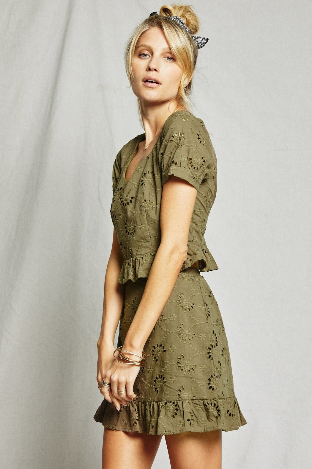 SAGE THE LABEL O'Keefe Eyelet Top - Front Full Image
