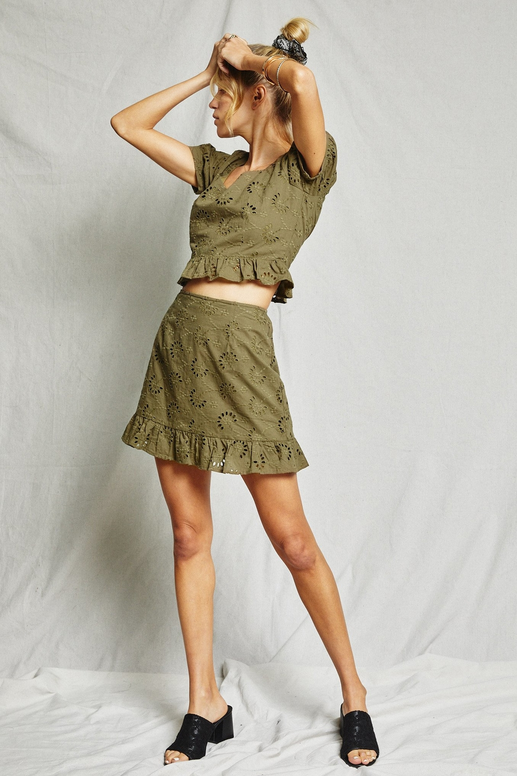 SAGE THE LABEL O'Keefe Mini Skirt - Back Cropped Image