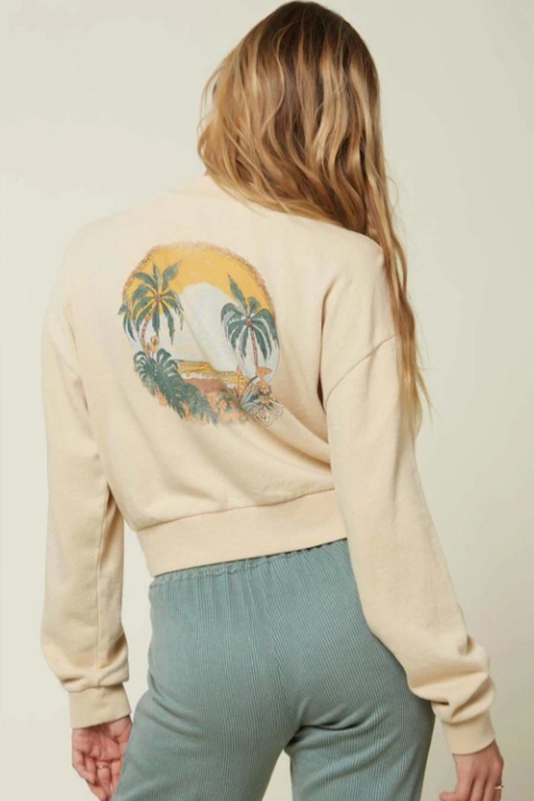 O'Neill Beach Scene Sweatshirt - Side Cropped Image
