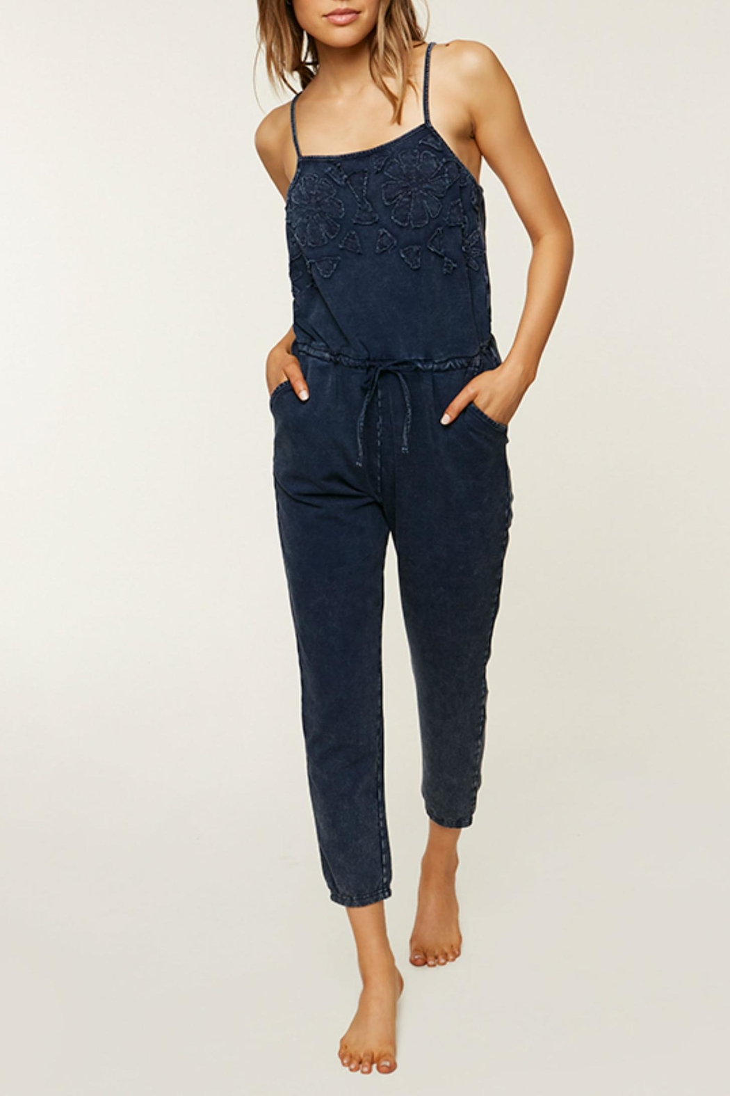 O'Neill Blue Cotton Jumpsuit - Front Cropped Image