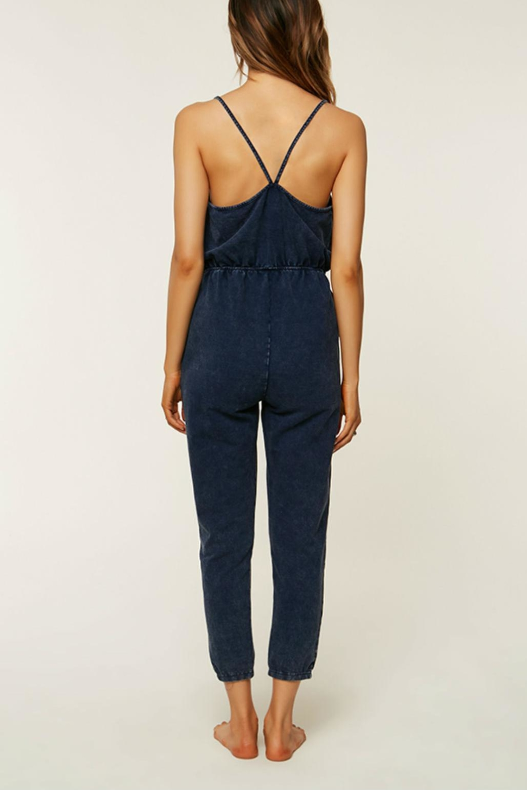 O'Neill Blue Cotton Jumpsuit - Front Full Image
