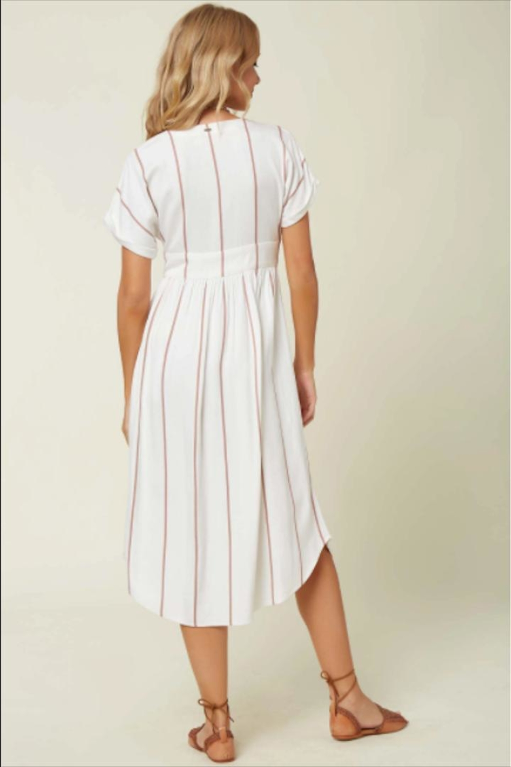 O'Neill Button-Front Stripe Dress - Front Full Image
