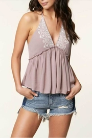 O'Neill Embroidered Ruffle Halter - Product Mini Image