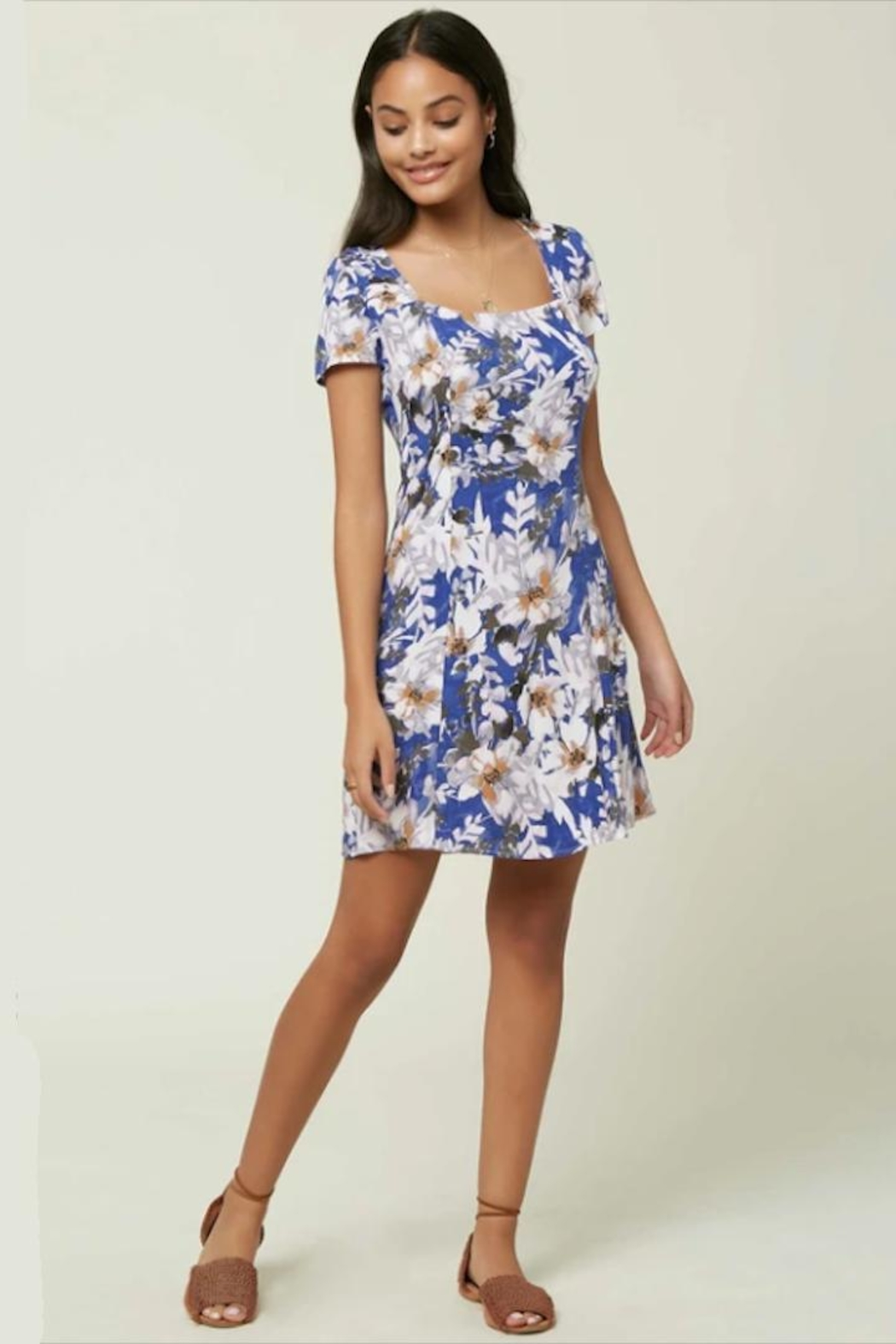 O'Neill Floral Cap-Sleeve Dress - Main Image