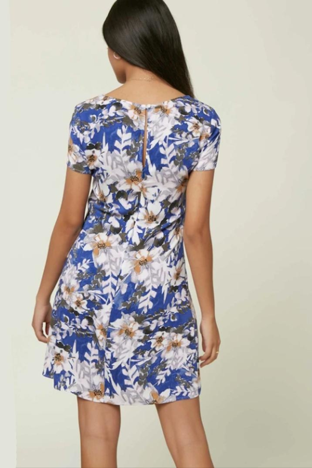 O'Neill Floral Cap-Sleeve Dress - Front Full Image
