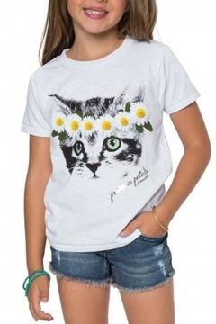 Shoptiques Product: Girls Kitty T-Shirt