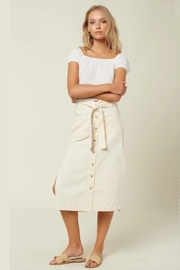 O'Neill Long Tie-Front Button-Skirt - Product Mini Image