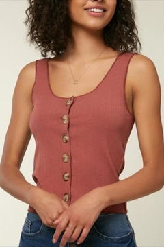 O'Neill Rust Button-Up Tank - Product List Image
