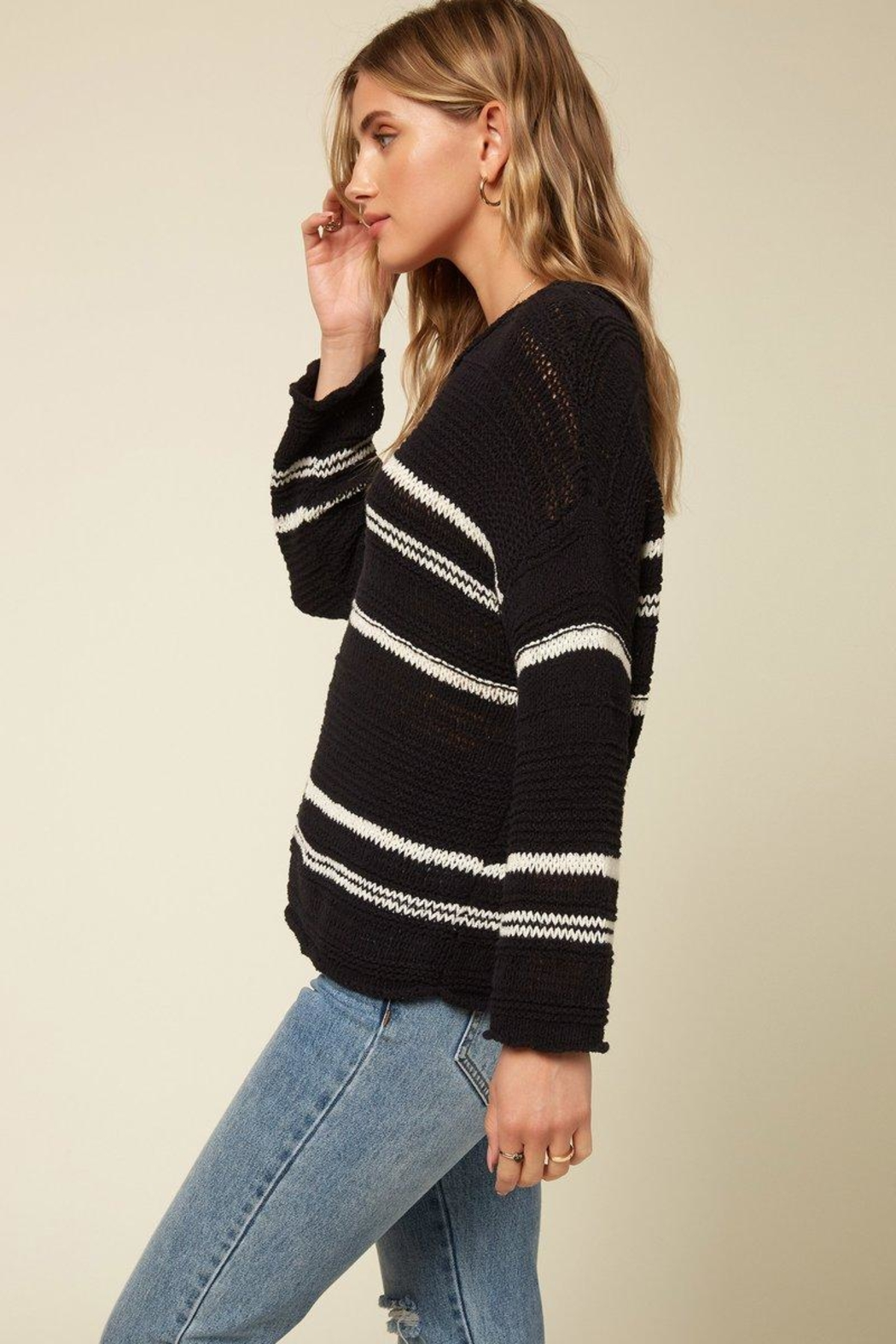 O'Neill Salty Black Sweater - Front Full Image