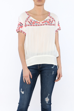 Shoptiques Product: White Bazaar Embroidered Top