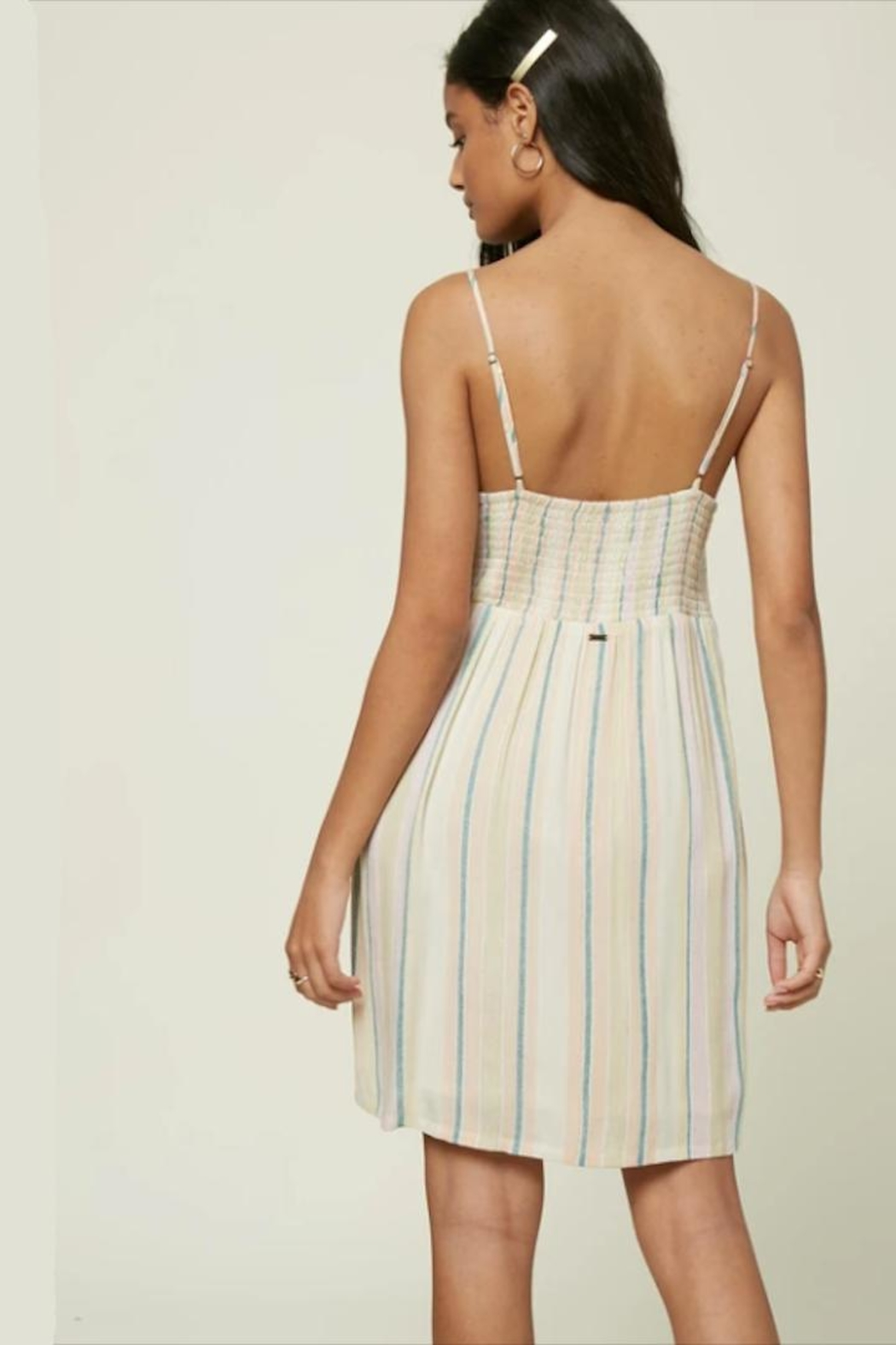 O'Neill Stripe Lace-Up Dress - Side Cropped Image