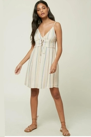 O'Neill Stripe Lace-Up Dress - Product Mini Image