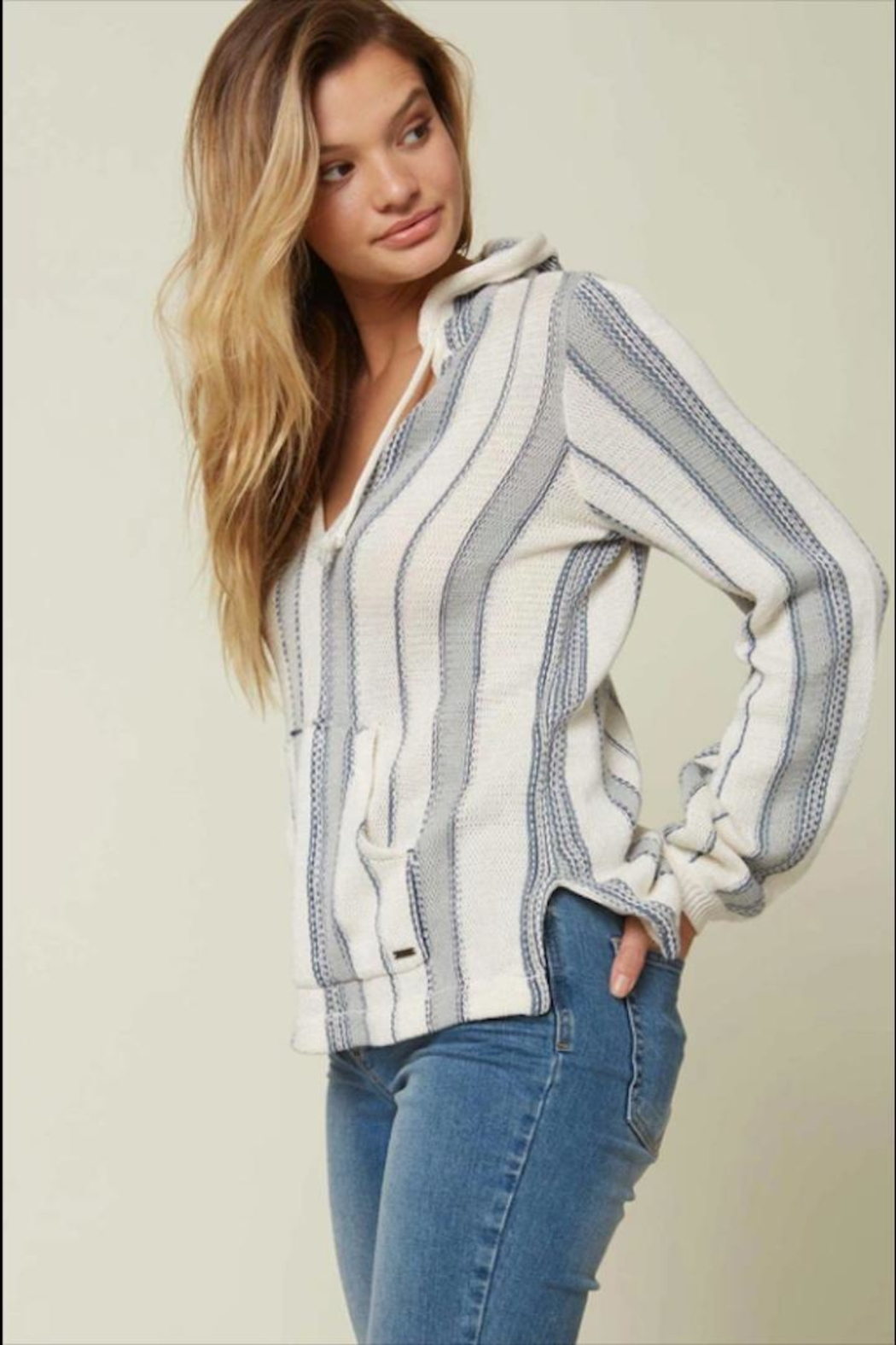 O'Neill Stripe Pullover Hoodie - Side Cropped Image