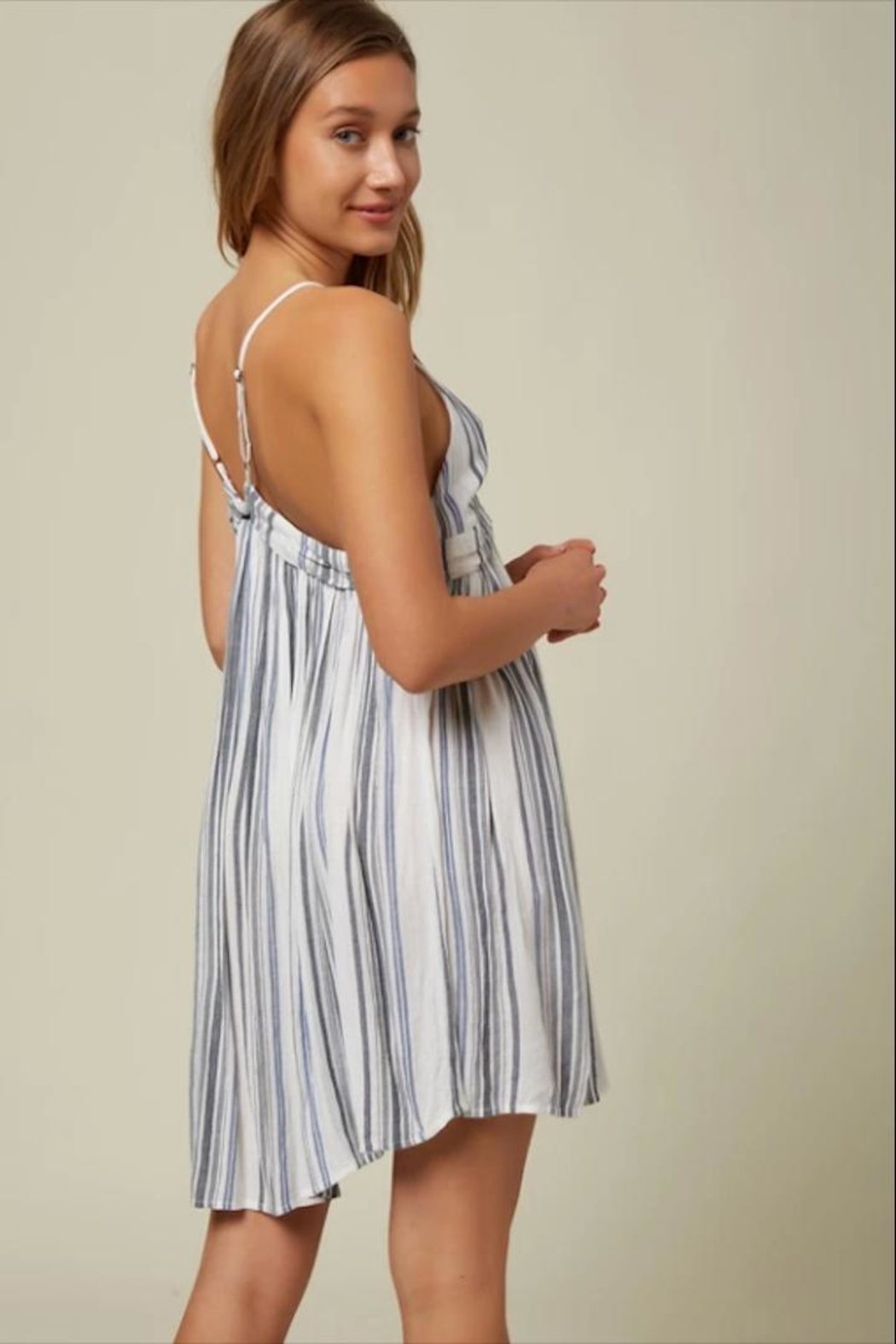 O'Neill Stripe Tank Dress - Front Full Image