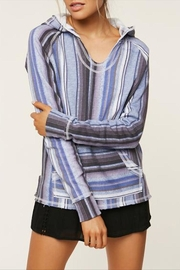 O'Neill Striped Pullover Hoodie - Product Mini Image
