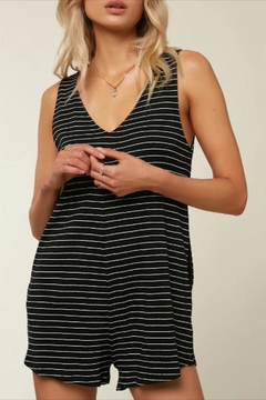 O'Neill Striped V-Neck Romper - Product List Image