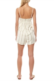 O'Neill Olive Striped Romper - Front full body