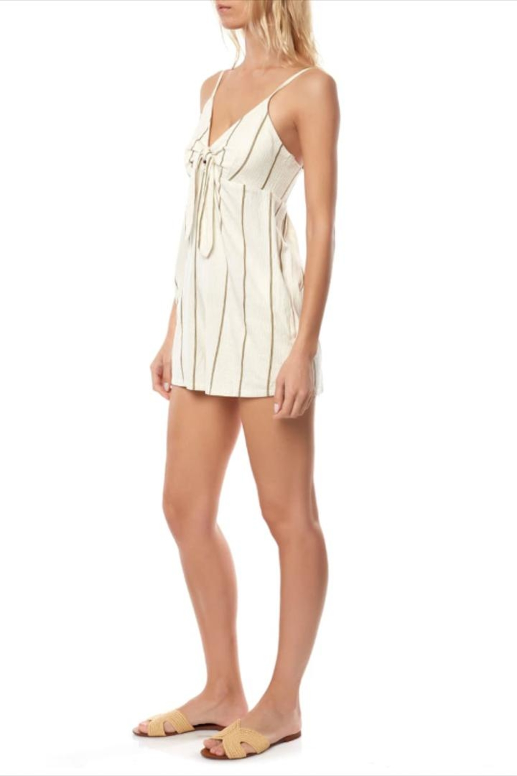 O'Neill Olive Striped Romper - Side Cropped Image