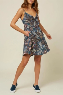 Shoptiques Product: Tie-Front Printed Sundress